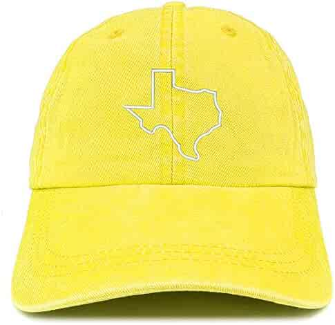 3df755db3fb Trendy Apparel Shop Texas State Outline Embroidered Washed Cotton  Adjustable Cap