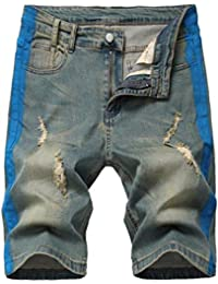 Men's Stretch Ripped Jean Shorts