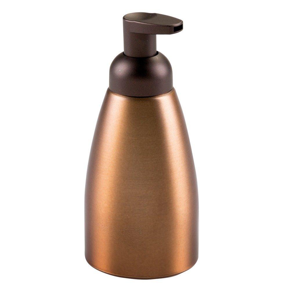 InterDesign Metro Rust Proof Aluminum Foaming Soap Dispenser Pump Brushed//Matte Charcoal for Kitchen or Bathroom