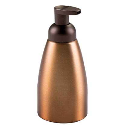 InterDesign Metro Dosificador de espuma de jabón | Dispensador de jabón líquido recargable | Accesorios de