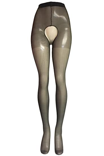 120750f5a Amazon.com  Plus Size Hosiery Lingerie Sexy Sheer Crotchless Pantyhose-  Fits size 16-22  Clothing
