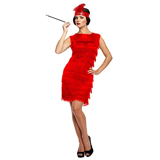 94e18672e7d53 Ladies Sexy Red 1920s Charleston Flapper Dance Great Gatsby Fancy Dress  Costume Outfit STD & Plus