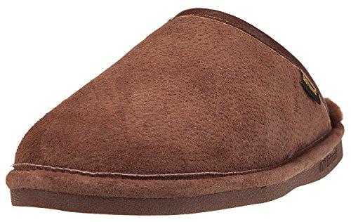 Old Friend Men's Sheepskin Scuff Slippers (Medium W (9-10 2E US), (Extra Wide Fleece Binding)