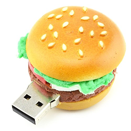 ZLXUSA 32GB Hamburger USB Flash Drive (Yellow) - Food Series ()