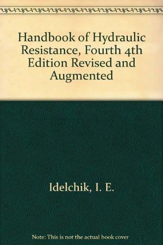 handbook of hydraulic resistance, idelchik
