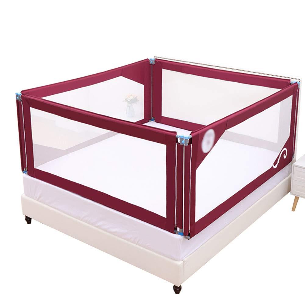 赤ちゃんの抗秋ベッドガードレールバッフル新生児幼児の予防大きなベッドフェンスバッフル (色 : Two-sided fence, サイズ さいず : 150×200cm) 150×200cm Two-sided fence B07P5497JD