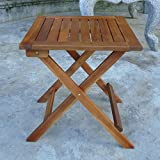 Ouse Valley Square Wooden Folding Table For Garden & Patio (46cm)