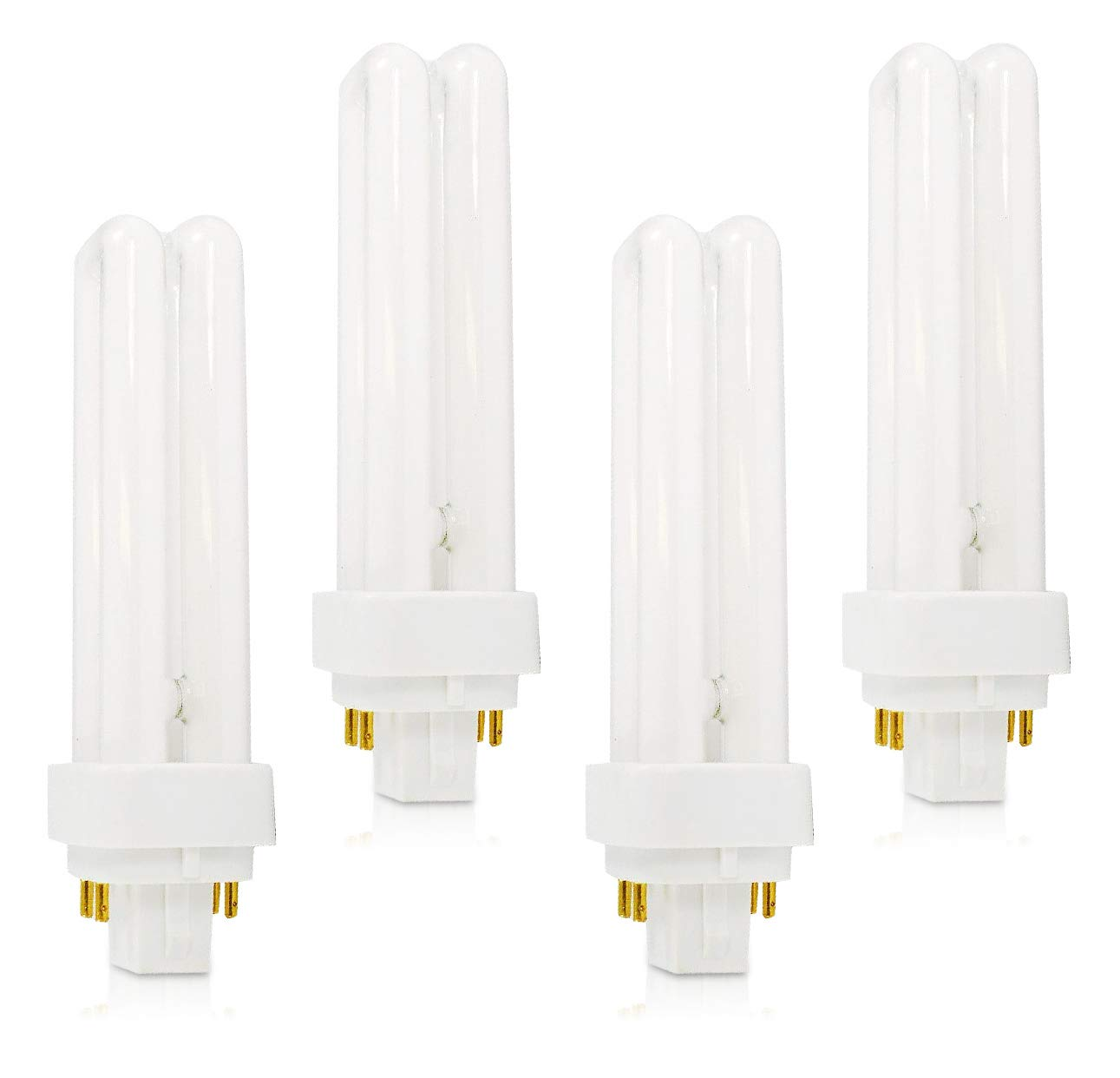 (4 Pack) PLC-13W 841, 4 Pin G24q-1, 13 Watt Double Tube, Compact Fluorescent Light Bulb, Replaces Philips 38328-1 PL-C 13W/841/4P/ALTO, Sylvania 20667 and GE 97597 - F13DBX/841/ECO4P by Circle