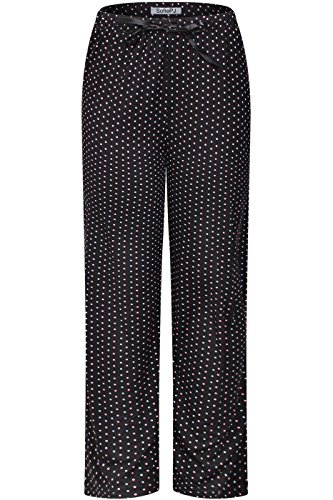(SofiePJ Women's Stretchy Relax Fit Printed Knit Lounge Pajama Pants Black M)