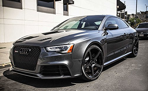 Euro Rs5 Front Sport Hex Mesh Honeycomb Grill S Line Black For