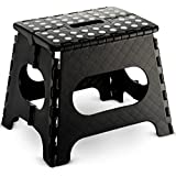 "Folding Step Stool - 11"" Wide - The Lightweight Step Stool is Sturdy Enough to Support Adults and Safe Enough for Kids. Opens Easy with One Flip. Great for Kitchen, Bathroom, Bedroom, Kids or Adults."