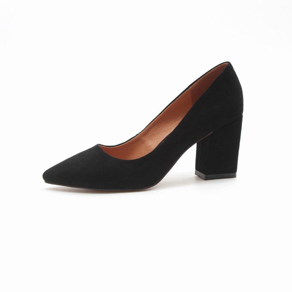 H+H HH Tragen Schuhe Sie Hochhackige Schuhe Tragen Mode Joker Schuhe Spitz Flach Mund Schuhe e56897