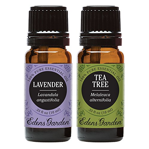 Edens Garden Lavender & Tea Tree Essential Oil, 100% Pure Therapeutic Grade (Highest Quality Aromatherapy Oils), 10 ml Value Pack