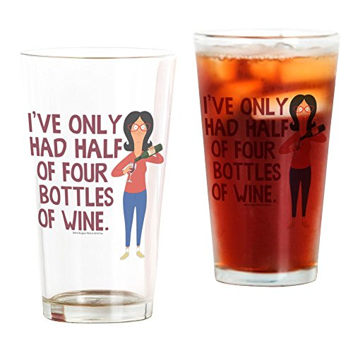 CafePress Bob's Burgers Wine Pint Glass, 16 oz. Drinking Glass ()