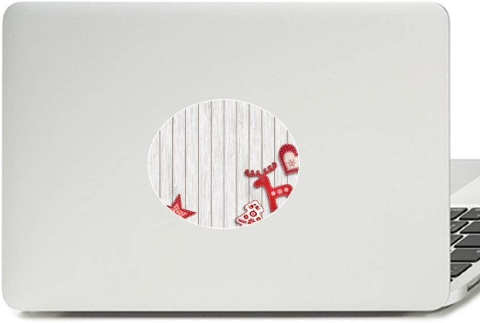 Merry Christmas Red Moose Star Vinyl Emblem Graphic Laptop Sticker Notebook Decal