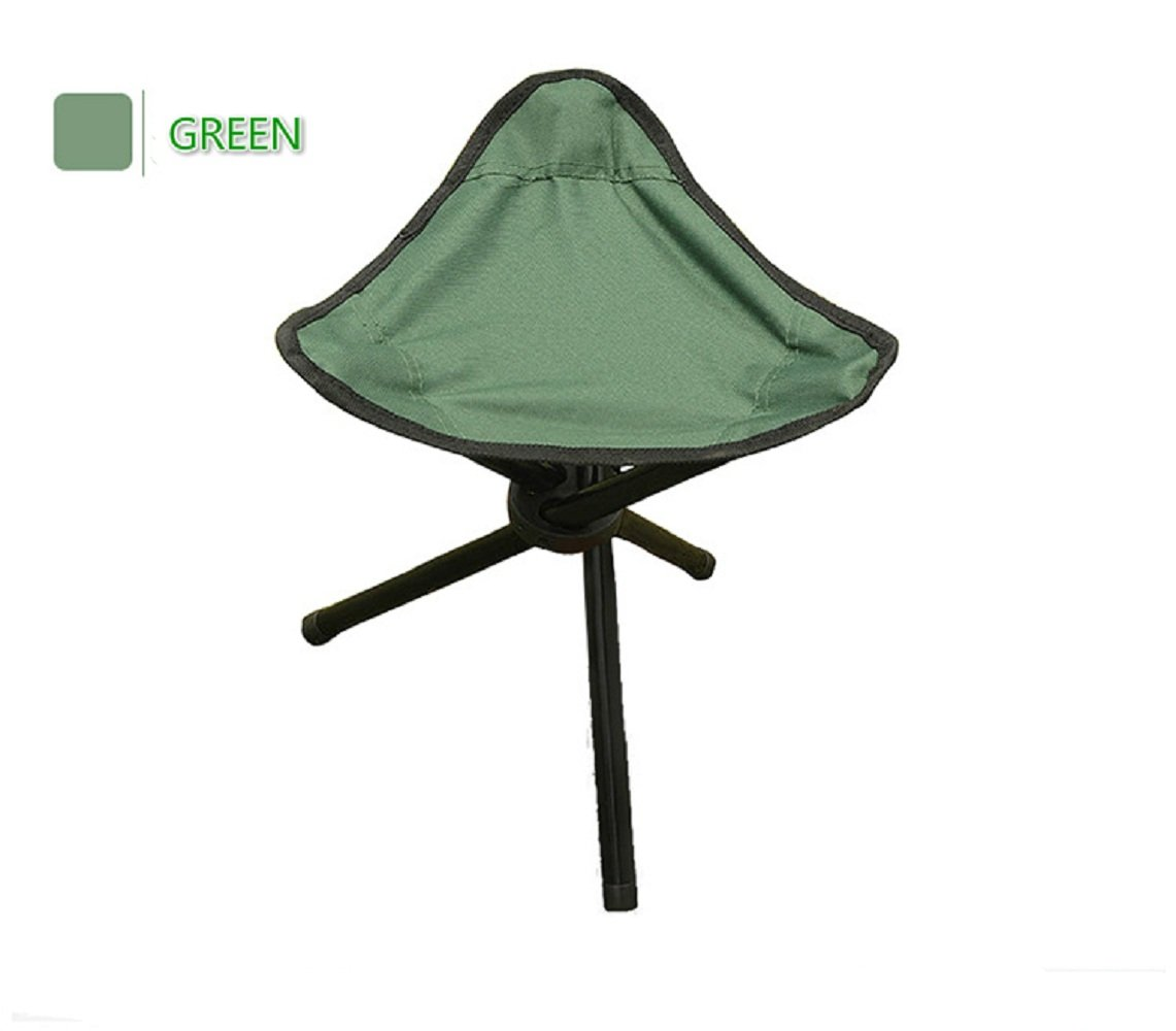 collapsible camping stool folding portable chair tri leg