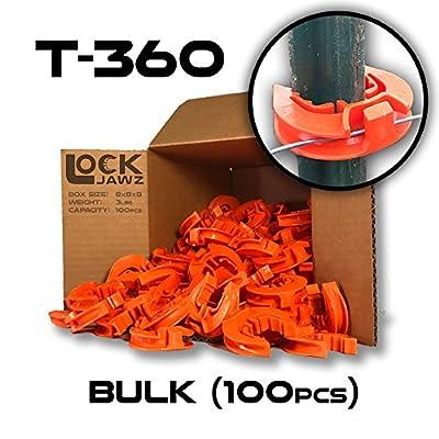 T-360 Electric Fence T-Post Insulator - Orange (Bulk Qty: 100)