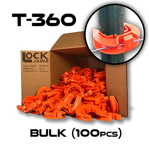 T-360 Electric Fence T-Post Insulator - Orange (Bulk Qty: ()