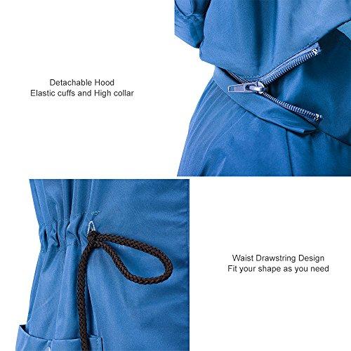 Giacca Donna Con Outdoor Da Cappuccio Trench Impermeabili Blu Antipioggia Active Unbrand 5anWEqwW