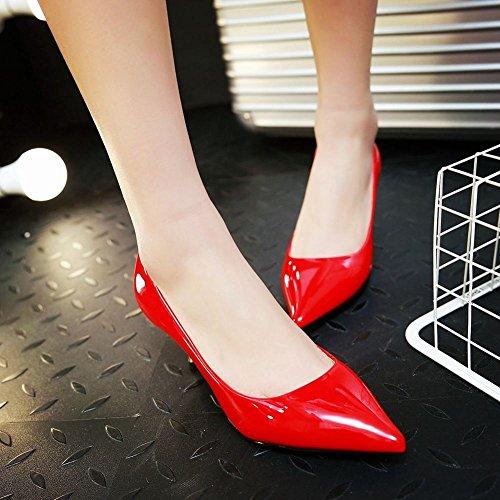 Scarpe MissSaSa Gattino Elegante o da Donna Lavoro Rosso Sala Tacco 77wx5qr