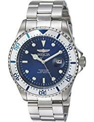 Invicta Mens Pro Diver Quartz Stainless Steel Diving Watch, Color:Silver-Toned (Model: 23399)