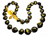 Aloha Passion Hawaiian Style Kukui Nut Lei, Hand Painted Gold Color Turtle 32 Inches