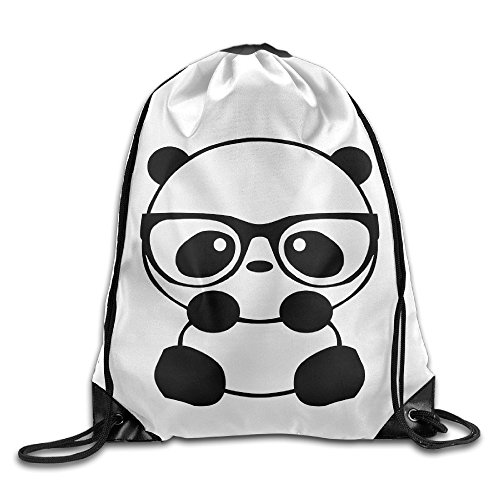 Used, Panda Nerd Cute Sketch Animal Cool Drawstring Backpack for sale  Delivered anywhere in USA