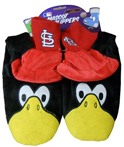 Cardinal Slippers - Forever Collectibles St. Louis Cardinals MLB Womens Mascot Slipper Adult Size L/XL