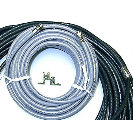75 FT and 20 FT RG6 Coaxial Cable Kit Satellite Dish Install Antenna HDTV
