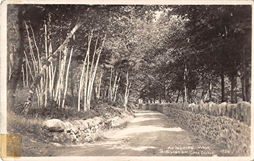 Lake George New York Scenic Walk Around Silver Bay Real Photo Antique Pc Y4345