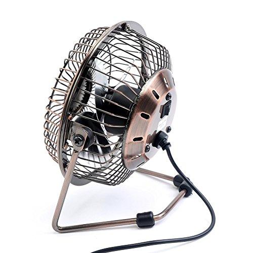 Small Travel Fan : Glamouric small usb desk fan mini metal personal retro