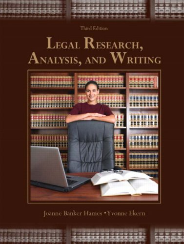 Legal Research, Analysis, and Writing (3rd Edition)