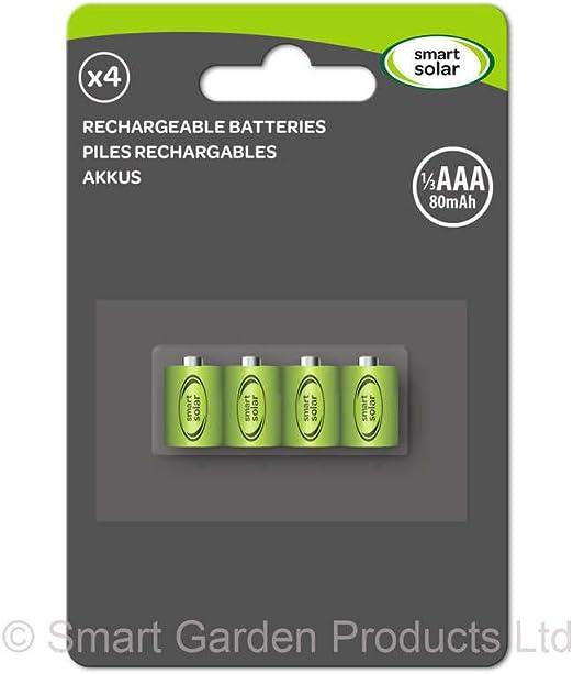 Smart Solar Ersatzakkus 1 3 Aaa 80mah 4er Pack Elektronik