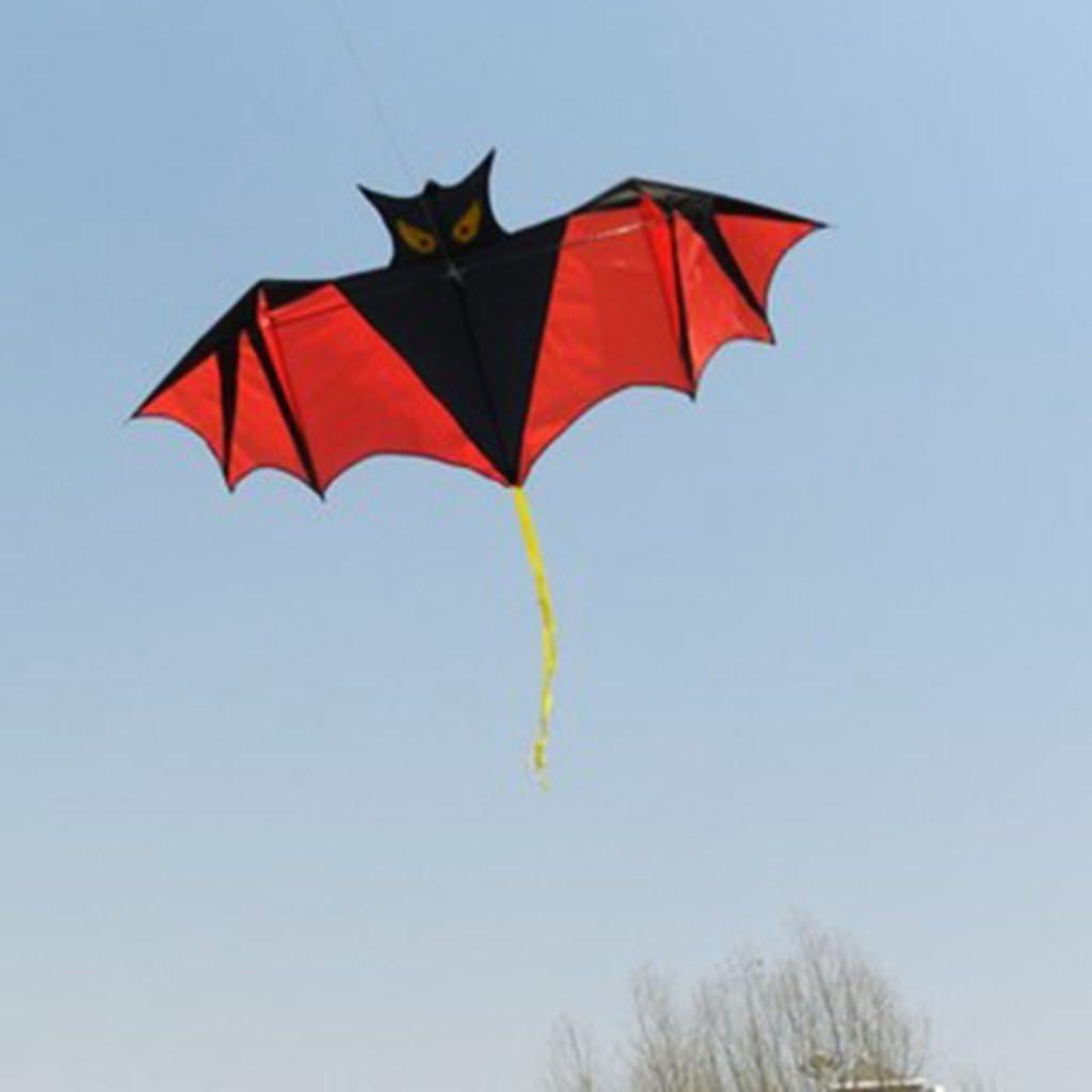 Haorw Fledermaus Design Drachen f/ür Kinder Erwachsene Spiel im Freien