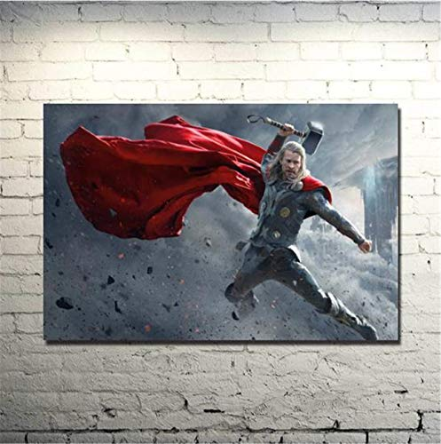 - NATVVA Modern Wall Art Painting Gifts Canvas Thor 2 The Dark World Posters Art Picture Printed Artist Home Decor Artwork for Living Room Bed Room Wall Decoration No Frame