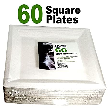 Chinet 60 super strong plates 24 cm Square  sc 1 st  Amazon UK & Chinet 60 super strong plates 24 cm Square: Amazon.co.uk: Kitchen u0026 Home