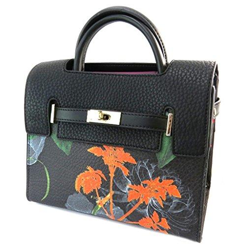 Bolso creativo 'Fiorelli'negro multicolor - 23.5x21x12 cm.