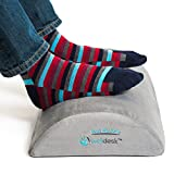 Rest My Sole - Foot Rest Cushion for Under Desk - Ergonomic Footrest Your Feet Will Love at Home or Office - Resilient Comfort Foam, Non-Slip Lower Surface and Low Profile for Optimum Leg Clearance