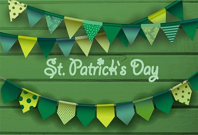 St Patricks Pattern Party Banner Personalized Decoration Backdrop