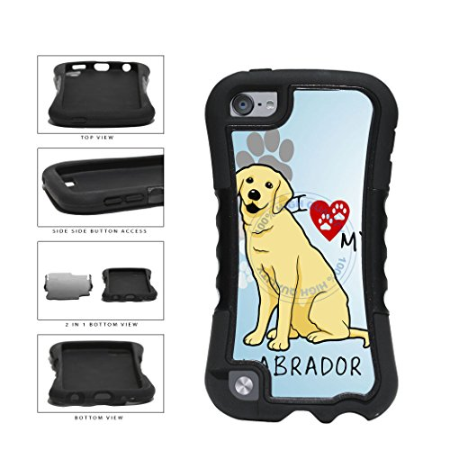 BleuReign(TM) I Love My Labrador Dog Lover 2-Piece - Ipod 5 Generation Snoopy Case