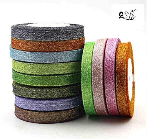 2500 Silk Art Solid Color 4/8inch Ribbon for Craft and Gift Wrapping for Christmas Valentine's Day Wedding Decoration DIY Kits 25 Yard 4 Color/set(Total(100)Yards)) SD001-12 (Valentine Delivery Ideas)