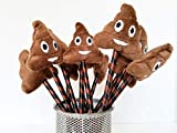 the poo game - Poop Emoji Pens with Plush, 12 Pack, Lifetime