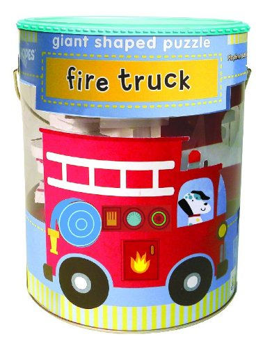 Price comparison product image Soft Shapes Giant Shaped Puzzles: Fire Truck (Big Pieces for Little Hands!)