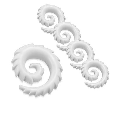 NRG Body Jewelry - 5 Piezas de dilatador de Oreja de ...