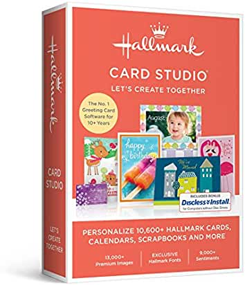 Amazon greeting cards home publishing software hallmark card studio 2017 m4hsunfo