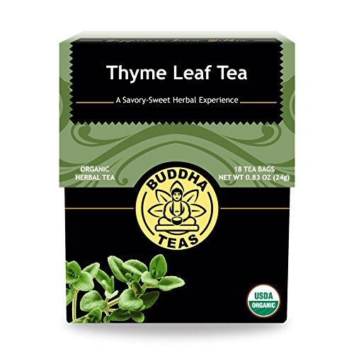 (Organic Thyme Leaf Tea - Kosher, Caffeine Free, GMO-Free - 18 Bleach Free Tea Bags)