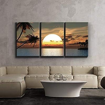 Tropical Sunset Endless Summer - Canvas Art Wall Art - 16x24x3 Panels
