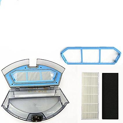 Louu Caja de polvo ILIFE A4 A4 para ILIFE A4s Robot Aspirador Accesorios de piezas