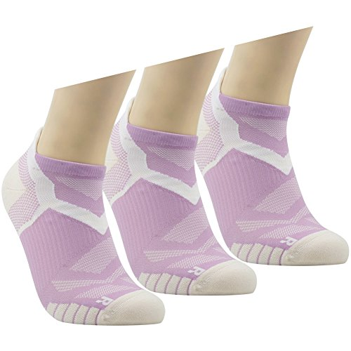 Running Ankle Socks Facool Ladie's Women's Moisture Wicking Lightweight Stretch Low Cut Outdoor Work Camping Hiking Tennis Sports Socks (Dri Fit Performance Tab)