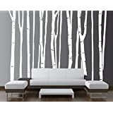 "Large Wall Birch Tree Decal Forest Kids Vinyl Sticker Removable (9 Trees) 84"" (7 Feet) Tall - 13049"